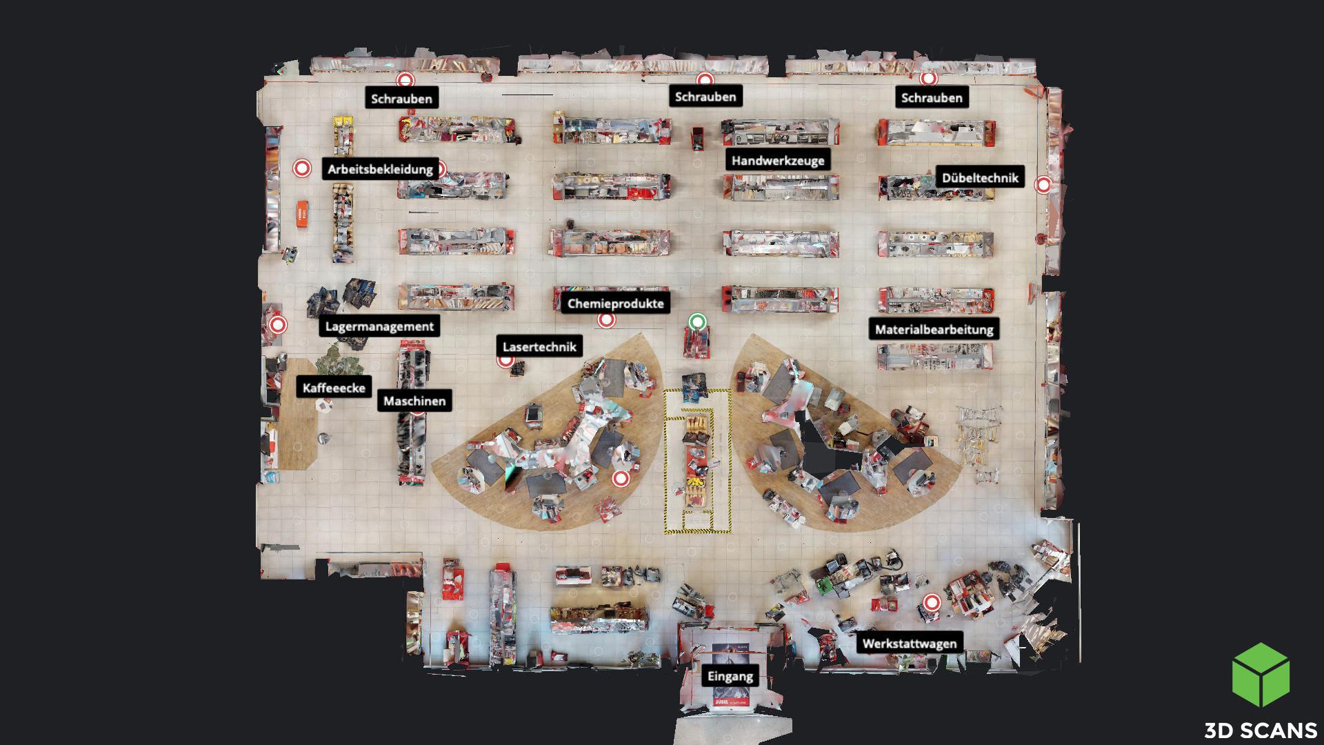 3D Scans View, Virtueller Rundgang, Schauraum
